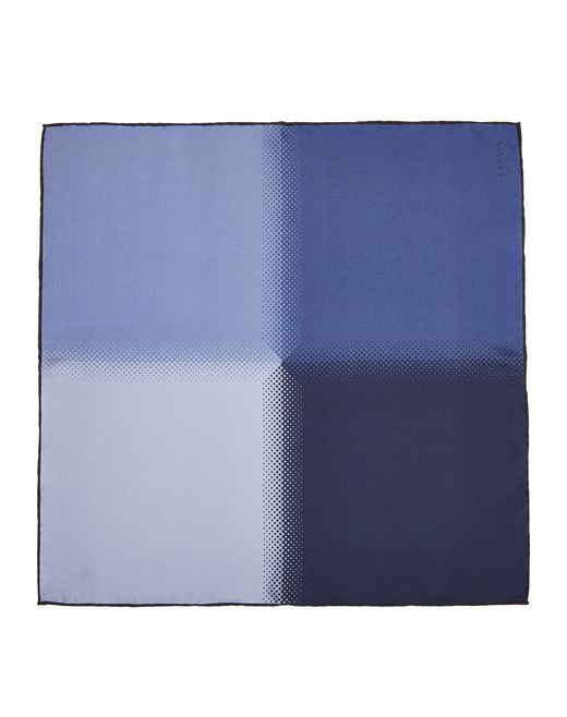 NAVY BLUE PLAIN POCKET HANDKERCHIEF - Lanvin