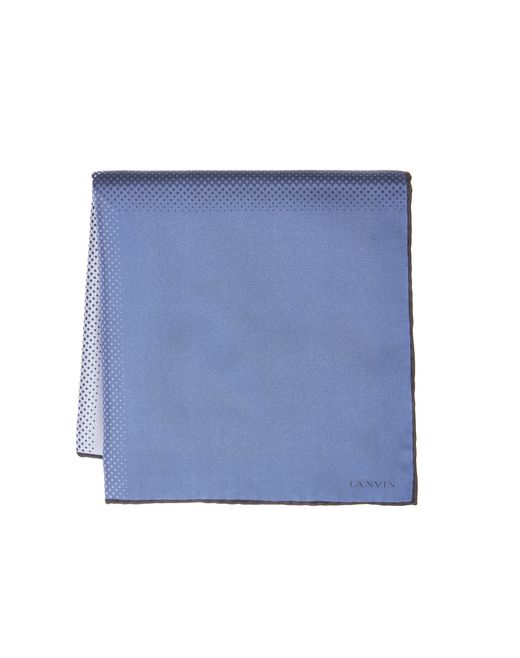 lanvin navy blue pocket handkerchief men
