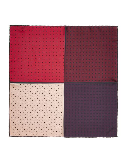 lanvin red dotted pocket handkerchief men