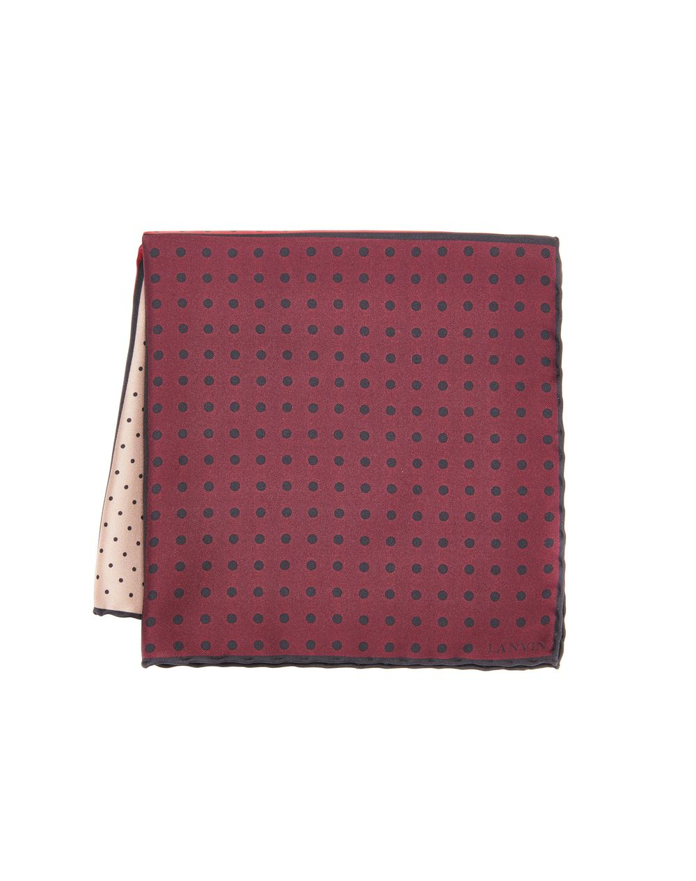 RED DOTTED POCKET HANDKERCHIEF - Lanvin