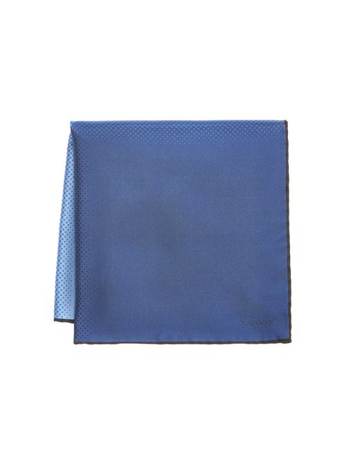lanvin purple pocket handkerchief men