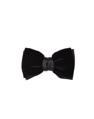 """NEW FANCY"" BLACK VELVET BOW TIE"