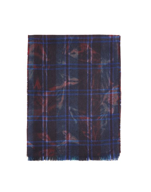 lanvin navy blue scarf men