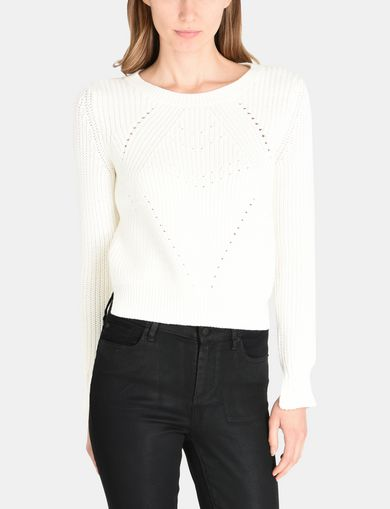 POINTELLE DETAIL SWEATER