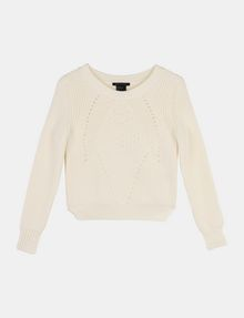 ARMANI EXCHANGE POINTELLE DETAIL SWEATER Pullover Woman b