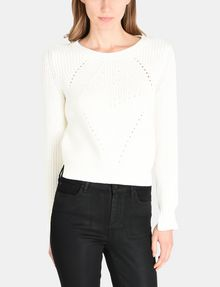 ARMANI EXCHANGE POINTELLE DETAIL SWEATER Pullover Woman f