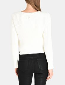 ARMANI EXCHANGE POINTELLE DETAIL SWEATER Pullover Woman r