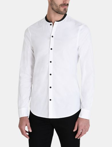 RIB BAND COLLAR SHIRT