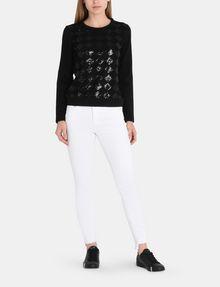 ARMANI EXCHANGE SEQUIN ARGYLE TOP L/S Knit Top Woman a