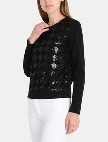 ARMANI EXCHANGE SEQUIN ARGYLE TOP L/S Knit Top Woman d