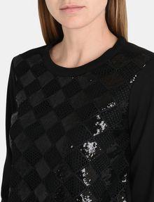ARMANI EXCHANGE SEQUIN ARGYLE TOP L/S Knit Top Woman e
