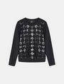 ARMANI EXCHANGE SEQUIN ARGYLE TOP L/S Knit Top Woman b