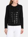 ARMANI EXCHANGE SEQUIN ARGYLE TOP L/S Knit Top Woman f