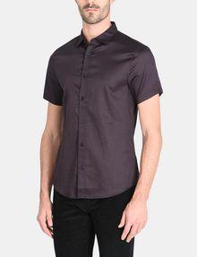 ARMANI EXCHANGE SHORT SLEEVE MICRO DIAMOND SHIRT Short sleeve shirt Man f