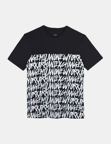 ARMANI EXCHANGE HANDWRITTEN ARMANI EXCHANGE T-SHIRT Logo T-shirt Man b