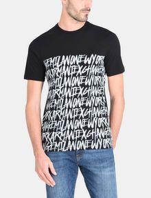 ARMANI EXCHANGE HANDWRITTEN ARMANI EXCHANGE T-SHIRT Logo T-shirt Man f