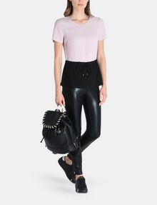 ARMANI EXCHANGE PIECED GLITTER DRAWSTRING TEE S/S Woven Top Woman a