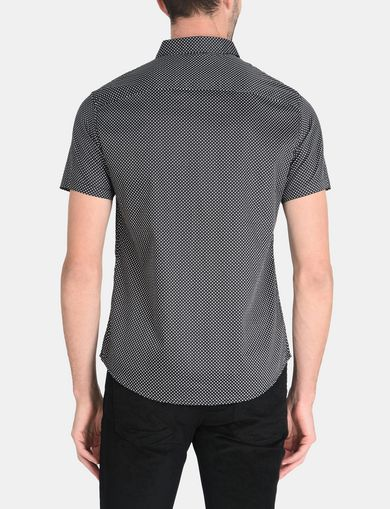 SHORT SLEEVE MICRO DIAMOND SHIRT