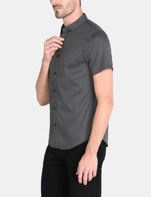 ARMANI EXCHANGE SHORT SLEEVE MICRO DIAMOND SHIRT Short sleeve shirt [*** pickupInStoreShippingNotGuaranteed_info ***] d