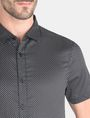 ARMANI EXCHANGE SHORT SLEEVE MICRO DIAMOND SHIRT Short sleeve shirt [*** pickupInStoreShippingNotGuaranteed_info ***] e