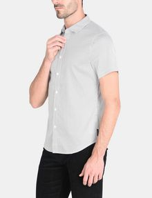 ARMANI EXCHANGE SHORT SLEEVE MICRO DIAMOND SHIRT Short sleeve shirt Man d