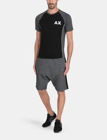 ARMANI EXCHANGE PIPED LOGO RAGLAN TEE S/S Knit Top Man a