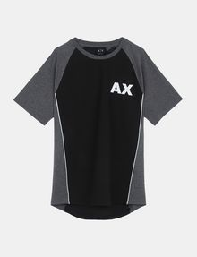 ARMANI EXCHANGE PIPED LOGO RAGLAN TEE S/S Knit Top Man b