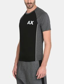 ARMANI EXCHANGE PIPED LOGO RAGLAN TEE S/S Knit Top Man d