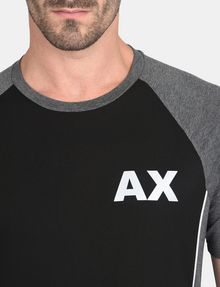 ARMANI EXCHANGE PIPED LOGO RAGLAN TEE S/S Knit Top Man e