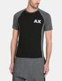 ARMANI EXCHANGE PIPED LOGO RAGLAN TEE S/S Knit Top Man f
