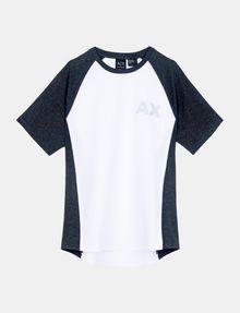 ARMANI EXCHANGE PIPED LOGO RAGLAN TEE S/S Knit Top Man b