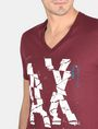 ARMANI EXCHANGE SHOOK UP LOGO V-NECK Logo T-shirt Man e