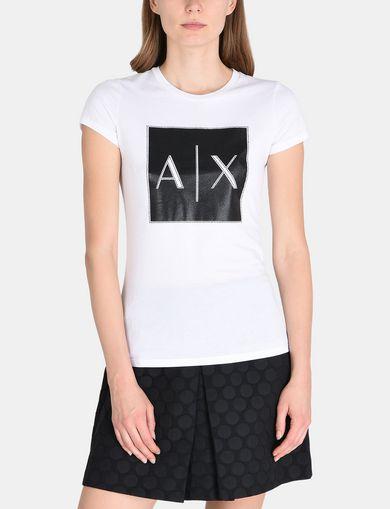 メタリックロゴTシャツ