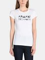 ARMANI EXCHANGE METALLIC STENCIL TEE Logo T-shirt Woman f