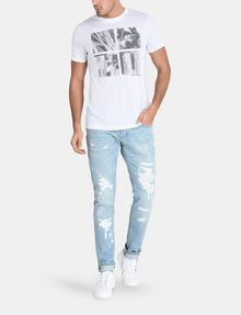 ARMANI EXCHANGE EXTREME RIP SLIM-FIT JEANS Slim fit JEANS Man a