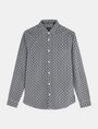ARMANI EXCHANGE ALLOVER LOGO SHIRT Long sleeve shirt Man b