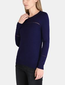 ARMANI EXCHANGE SHEER INSET SWEATER Pullover Woman d