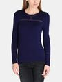 ARMANI EXCHANGE SHEER INSET SWEATER Pullover Woman f