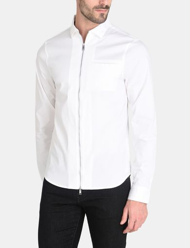 SLIM-FIT ZIPPERED DRESS SHIRT