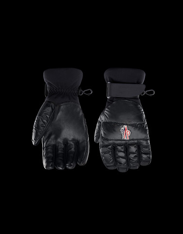 GLOVES Black Grenoble Scarves & Gloves Man