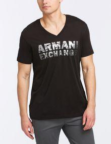 ARMANI EXCHANGE FOIL EROSION LOGO TEE Logo T-shirt Man f