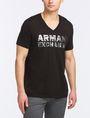 ARMANI EXCHANGE FOIL EROSION LOGO TEE Logo T-shirt Man d