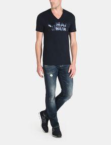 ARMANI EXCHANGE FOIL EROSION LOGO TEE Logo T-shirt Man a