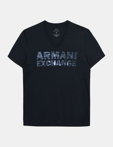 ARMANI EXCHANGE FOIL EROSION LOGO TEE Logo T-shirt Man b