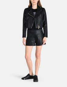 ARMANI EXCHANGE EMBOSSED SIDE-ZIP SHORT Shorts Woman a