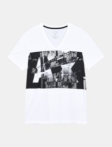 ARMANI EXCHANGE A|X BLINDERS V-NECK Logo T-shirt Man b