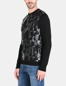 ARMANI EXCHANGE HIGH SHINE ALLOVER AX SWEATER Pullover Man d