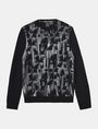 ARMANI EXCHANGE HIGH SHINE ALLOVER AX SWEATER Pullover Man b