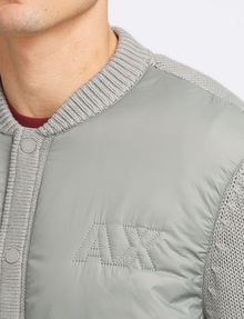 ARMANI EXCHANGE PUFFER-FRONT SWEATER JACKET Layering Man e