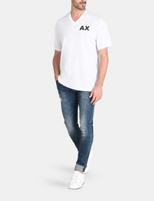 ARMANI EXCHANGE PLACED PRINT RELAXED V-NECK Logo T-shirt Man a